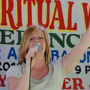 Karen Melton Leading Worship